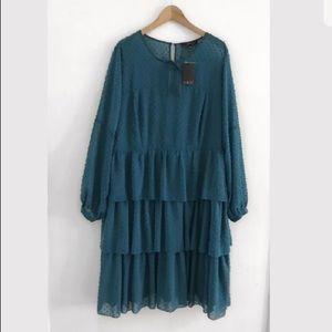 Eloquii Midi dress long sleeve size 22